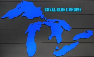 Great Lakes Decal Michigan Colored Chrome Michigan Great Lakes Sticker