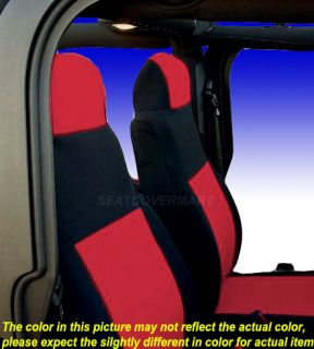 Jeep Wrangler 2003 06 Neoprene Full Set Red Color Car Custom Fit Seat Cover FS20
