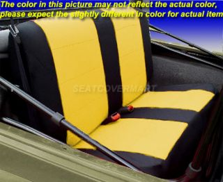Jeep Wrangler 1997 02 Neoprene Front Rear Car Seat Cover Full Set Yellow TJ127