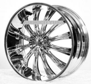 "22"" Ben Wheels Rims for Chevy Cadillac Ford RAM Toyota"