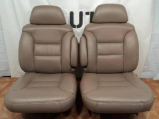 95 99 Chevy Tahoe Silverado Yukon Suburban Tan Leather Truck Seats
