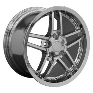 "18"" 19"" 8 5 10 Chrome C6 Z06 Deep Dish Wheels Rims Fit Corvette"