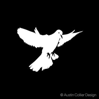 Dove Vinyl Decal Car Sticker Peace Christian Symbol