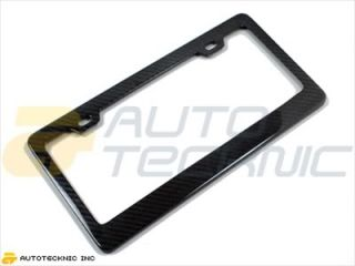 Real Carbon Fiber License Plate Frame by Autotecknic