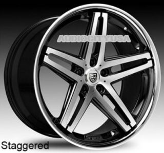 "22"" Lexani R5 Five BMC Wheels and Tires Rims for 300C Charger Magnum Challenger"