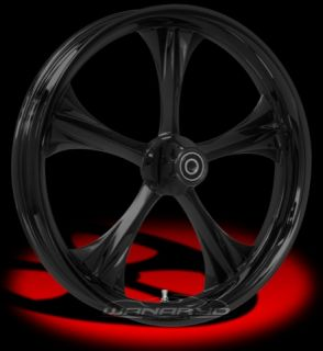 Colorado Custom Black Stealth Front Rear Wheels Tires Harley FLH FLHR FLHX
