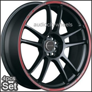 "18""Tenzo DC5 Black Lexus Audi Scion EVO Wheels Rims"