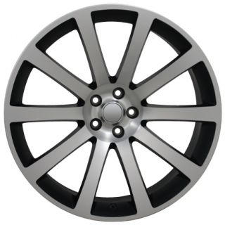 "22"" Machined Matte Black CL 300 SRT Wheel 22x9 Rim Fits Chrysler Charger Magnum"