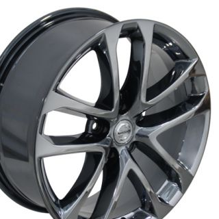"18"" Nissan Altima Black Chrome Wheels Set of 4 62521 Rims Infiniti I30 I35"
