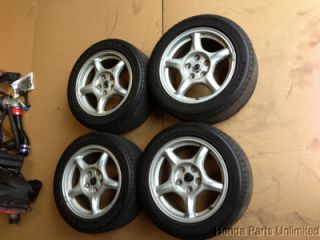 "93 95 Mazda RX7 FD3 Wheels Rims with Tires Stock Factory 16"" 5 Spoke"