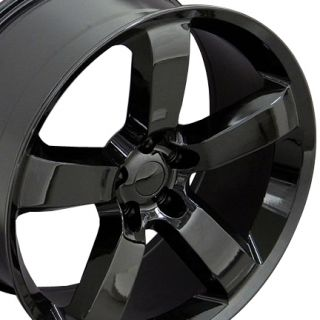 "22"" Black Charger Wheel 22x9 Rim Fits Dodge Magnum Challenger 300"