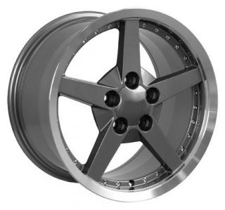 "18"" 8 5 10 5 Gunmetal C6 Deep Dish Wheels Rims Fit Camaro Corvette"