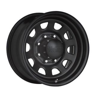 "Black Steel Rock Series 942 Type D Matte Black Steel Wheel 17""x9"" 5x4 5"""