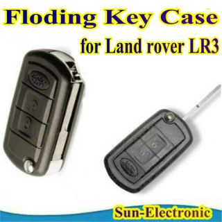 Uncut Flip Folding Key Remote 3BT Shell Case Land Rover Range Rover Sport LR3