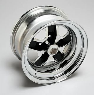 "Wheel Vintiques 58 Olds SS2 Chrome w Black Powdercoated Slot Wheel 15""x8"" Pair"
