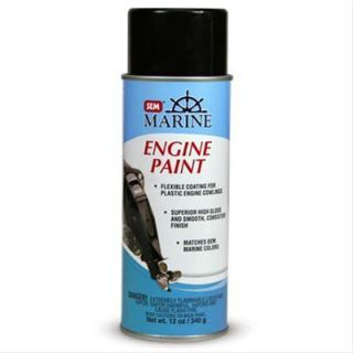 SEM Products Inc Paint Vinyl Coat Gloss Evinrude White 16 oz Aerosol Each