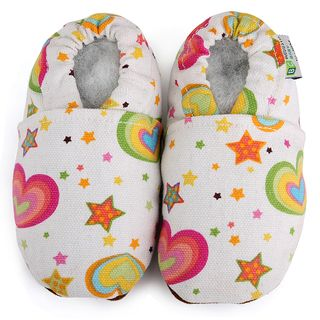 Rainbow Hearts Baby Soft Sole Canvas Shoe Augusta Products Girls' Shoes