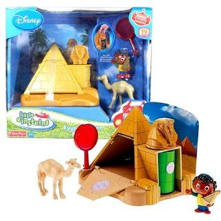 Fisher Price Year 2007 Disney TV Series Little Einsteins Playset   EGYPT MISSION (L1868) with Quincy, Camel, Magnifier and Sphinx Pyramid Playset Electronics