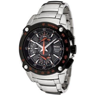 Seiko Men's SPC039 Sportura Flyback Chronograph Grey Dial Stainless Steel Watch Seiko Watches