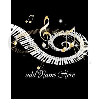 Personalized Piano Musical gi Note Cards (Pk of 10 by auslandgifts