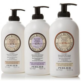 Perlier Shea Butter Moisturizing Bath Cream Trio