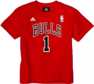 NBA Chicago Bulls Derrick Rose Youth 8 20 Short Sleeve Name & Number T Shirt, Large, Red  Sports Fan T Shirts  Clothing