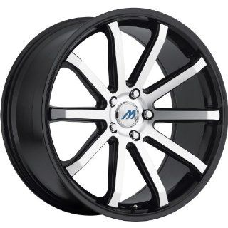 Mach M10 19 Black Machined Wheel / Rim 5x4.5 with a 35mm Offset and a 72.56 Hub Bore. Partnumber M10 1985LL35FBM Automotive