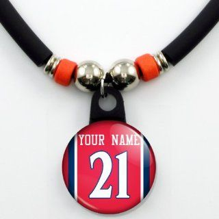 Atlanta Hawks Basketball Jersey Necklace Personalized with Your Name and Number Jewelry