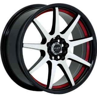 Ruff R353 18 Black Red Wheel / Rim 4x100 & 4x4.5 with a 40mm Offset and a 73.1 Hub Bore. Partnumber R353HK4BF40N7R Automotive