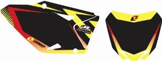 Background Number Plate Sticker/Decal Kit SUZUKI RMZ450 RMZ 450 09 10 11 Black Automotive