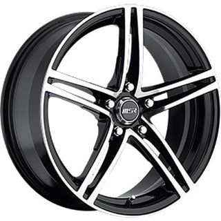 MSR 48 18 Machined Black Wheel / Rim 5x4.25 with a 42mm Offset and a 72.64 Hub Bore. Partnumber 4829745 Automotive