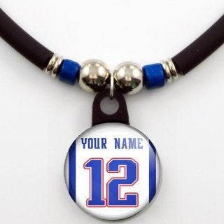 New England Patriots Away Jersey Necklace Personalized with Your Name and Number Jewelry