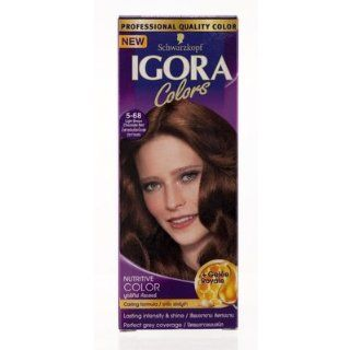 Igora Hair Color Light Brown Chocolate Red No.5.68 115ml. Beauty