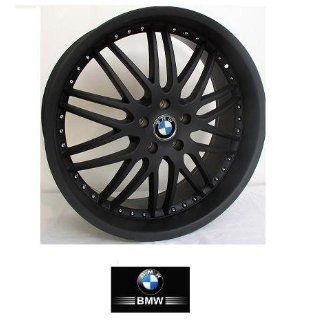 "22""  inch  Wheels/Rims BMW 7 SERIES 745 750 760 (Staggered 22x9.5/10.5) 2002 to 2009 set (4 wheels) BLACK"