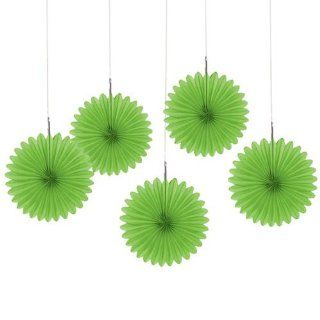 "Green   6"" Mini Paper Rosette Fans   Baby Shower Decorations   Set of 5 Toys & Games"