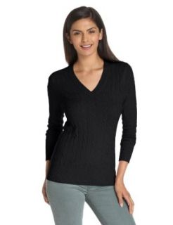 Christopher Fischer Women's 100% Cashmere Cable Knit Sweater Clothing