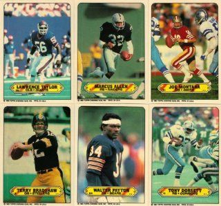 1983 Topps NFL Football Complete 33 Card Sticker Inserts Set Featuring Marcus Allen, Joe Montana, Walter Payton, Terry Bradshaw, Tony Dorsett, Dwight Clark, Dan Fouts, Franco Harris, James Lofton, John Stallworth, Lawrence Taylor, Joe Theismann and More