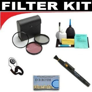 High Resolution 3 piece Filter Set (UV, Fluorescent, Polarizer) + 6 Piece Deluxe Cleaning Kit + Lenspen + Lens Cap Keeper + DB ROTH Micro Fiber ClothFor The JVC GR AX760U, AXM17U, AXM18US, AXM230U VHS Camcorders  Camera Lens Filter Sets  Camera & Pho