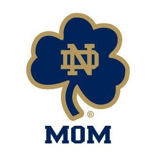 NOTRE DAME MOM CLOVER clear vinyl decal car truck sticker