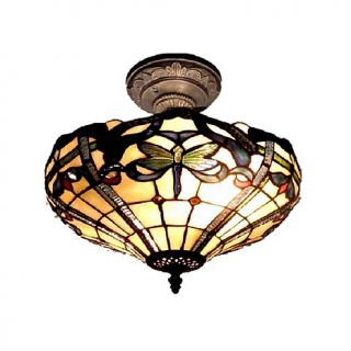 Dale Tiffany Cabrini Semi Flush, Ceiling Mounted Lamp
