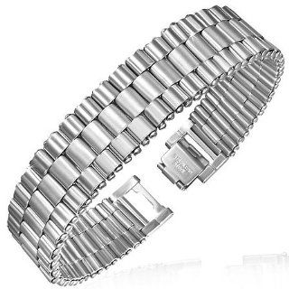 Stainless Steel Silver Tone Mens Thick Link Chain Bracelet with Clasp My Daily Styles Jewelry