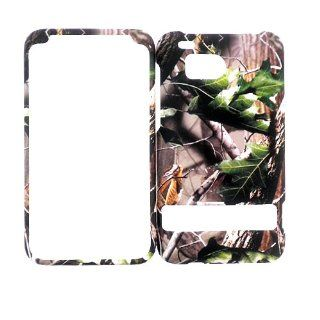 HTC DROID THUNDERBOLT GREEN LEAF CAMO CAMOUFLAGE HUNTER HARD PROTECTOR COVER CASE / SNAP ON PERFECT FIT CASE Cell Phones & Accessories