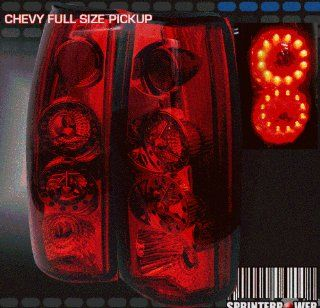Chevy Suburban Led Tail Lights All Red LED Taillights 1992 1993 1994 1995 1996 1997 1998 1999 92 93 94 95 96 97 98 99 Automotive
