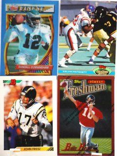 Topps / NFL   4 Vintage Football Trading Cards   John Friesz / Randall Cunningham / Kelvin Pritchett / Bobby Hoying   Rare   Like New   Limited Edition   Collectible