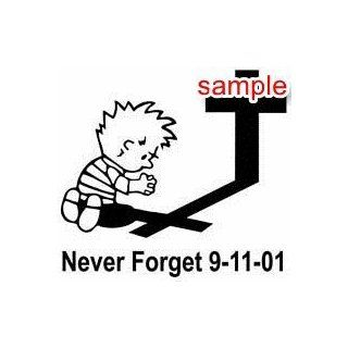 "CHRISTIAN NEVER FORGET 9 11 10"" WHITE VINYL DECAL STICKER  Automobiles"
