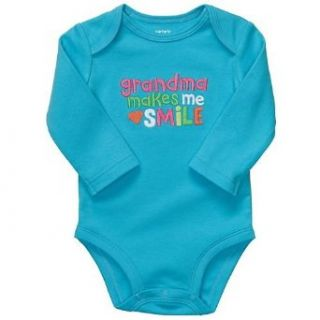 Carter's Turquoise Girls Onesie Bodysuit Grandma Makes Me Smile L/s (6 months) Clothing