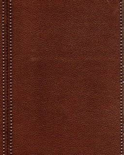 Galerie Natural Faux Feature Wallpaper Leather Stitch Effect Brown SD102085