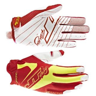 JT Racing Evo Lite Race Gloves   Red Yellow 2013