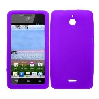 iFase Brand Huawei Ascend Plus H881C Cell Phone Solid Purple Silicon Skin Case Cell Phones & Accessories