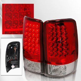 Chevy Suburban Tahoe / GMC Denali, XL, Yukon Denali 00 01 02 03 04 LED Tail Lights ~ pair set (Red) Automotive